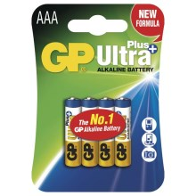 4 pz Batteria alcalina AAA GP ULTRA PLUS 1,5V