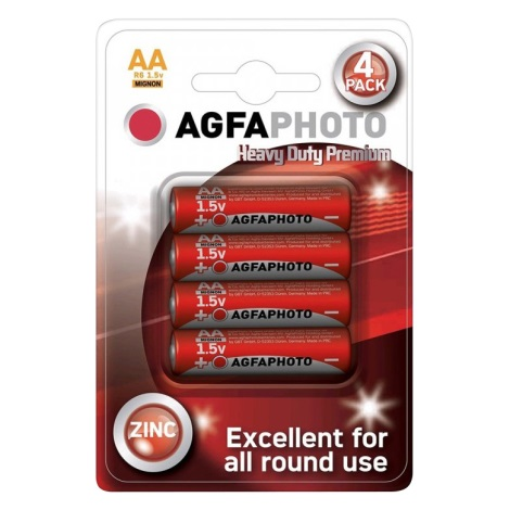 4 pz Batteria allo zinco AA 1,5V