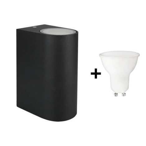 Nero A Da Applique 230v Esterno 6w Ip54 2xgu10 Led Torre 3KTc1lFJ