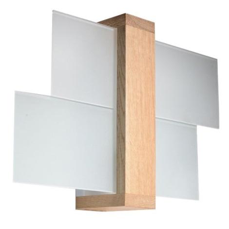Applique FENIKS 1 1xE27/60W/230V legno naturale