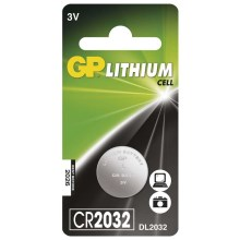 Batteria a bottone al litio CR2032 GP LITHIUM 3V/220 mAh