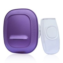 Campanello wireless a batterie con spina 1L62P viola