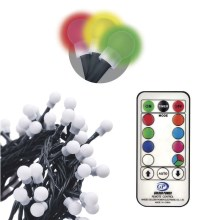 Catena decorativa LED con telecomando CHAIN 96xLED/3,6W/230V IP44