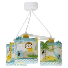 Dalber D-76114 - Lampadario per bambini MY LITTLE JUNGLE 3xE27/60W/230V