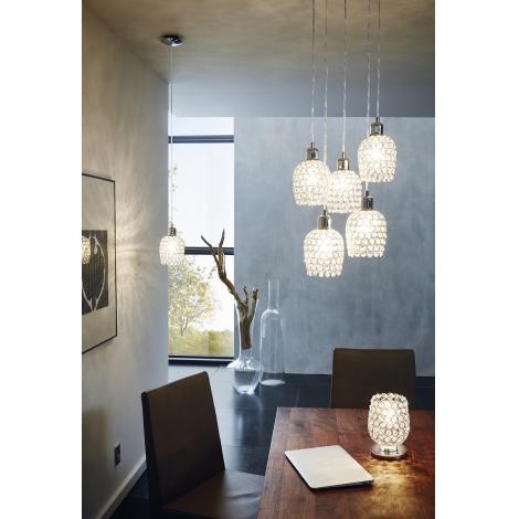 Eglo 94899 - Lampada da tavolo di cristallo BONARES 1 1xE27/60W/230V