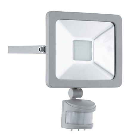 1 1xled Sensore 230v 20w Led 95408Riflettore Eglo Faedo Con nymN8wPv0O
