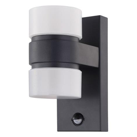 6w 96276Applique Da Sensore A Esterno Eglo Atollari Con 2xled Led AL3jq45R