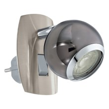 Eglo 96841 - Applique a LED con spina integrata BIMEDA 1xGU10/3,3W/230V grigio