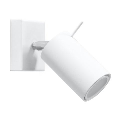 Faretto da parete RING 1xGU10/40W/230V bianco