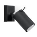 Faretto da parete RING 1xGU10/40W/230V nero