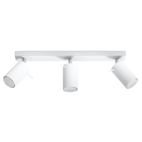 Faretto RING 3 3xGU10/40W/230V bianco