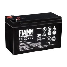 Fiamm FG20722 - Batteria al piombo 12V/7,2Ah/faston 6,3mm