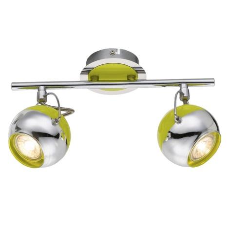 Globo 57886-2 - Faretto LED HULK 2xGU10/5W/230V verde