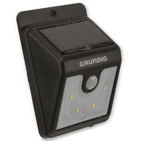 4xled Grundig 111Applique Ip44 A Con Sensore Led Solare gYf6bv7y