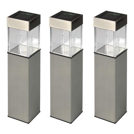 Grundig 90048 - KIT 3x Lampada solare LED/5,5x28cm