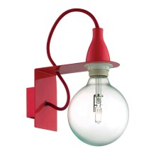 Ideal Lux - Applique 1xE27/42W/230V rosso