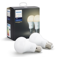 KIT 2x Lampadina LED dimmerabile Philips HUE WHITE E27/9W/230V