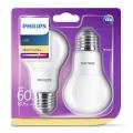 KIT 2x Lampadina LED Philips E27/8W/230V