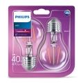 KIT 2x Lampadina LED VINTAGE Philips E27/4W/230V 2700K
