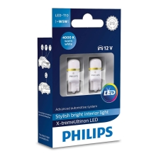 KIT 2x Lampadine auto LED  Philips X-TREMEULTION 127994000KX2 T10 W2,1x9,5d/0,8W