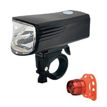 Kit 2x Luce LED ricaricabile per bici LED/5W/USB