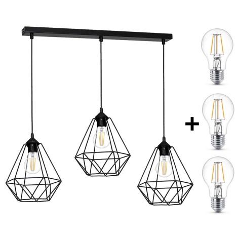 Lampada a sospensione LED BASKET 3xE27/4,3W/230V