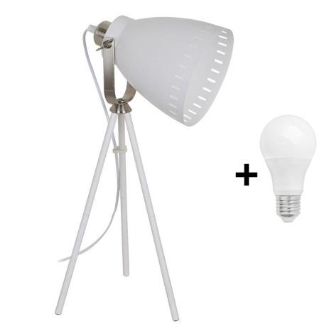52cm 60w 230v Bianco Lampada Tavolo Da 1xe27 F1cTlJK3
