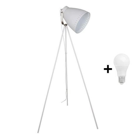 1xe27 Bianco 60w Lampada Da Terra 230v 145cm v8wnN0ymOP