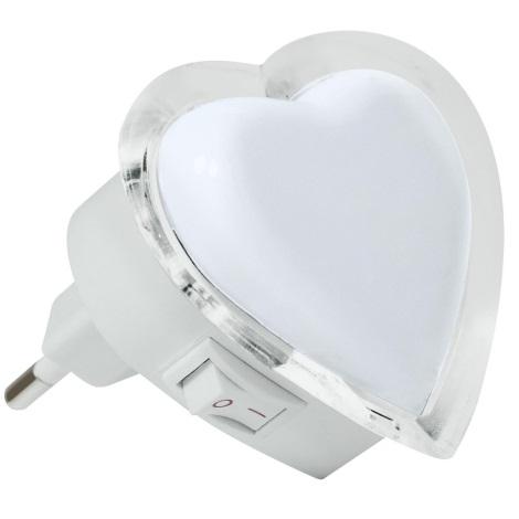 Integrata 4w 230v Led Spina Lampada Bianco Cuore 0 Con Notturna qGpUVLMSz