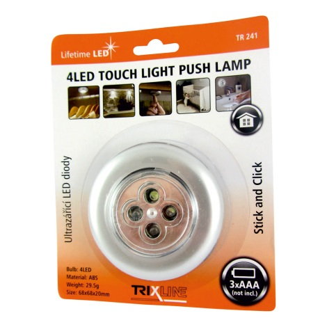 A Notturna 3xaaa Led 0 4xled Lampada Touch 2w Argento trshQdC