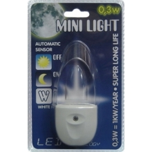 Lampada piccola con spina integrata MINI-LIGHT (luce blu)