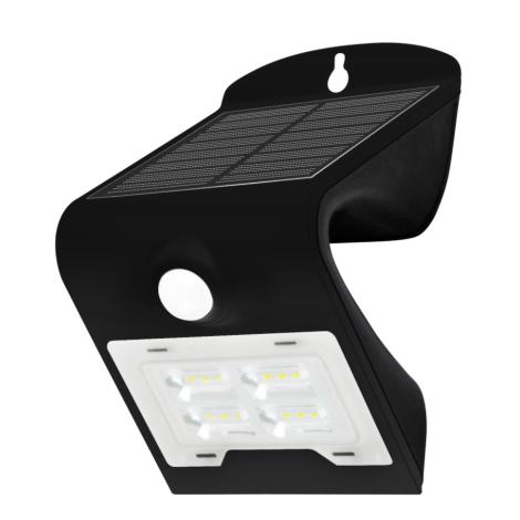Lampada Led Ip65 Senzore 2w Nero Da Solare Led Con Parete O8wP0Xkn