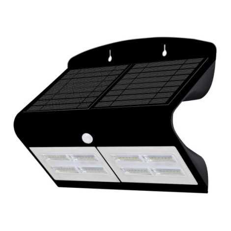 6 Parete Ip65 Led 8w Lampada Solare Led Senzore Con Nero Da 54ALjq3cR
