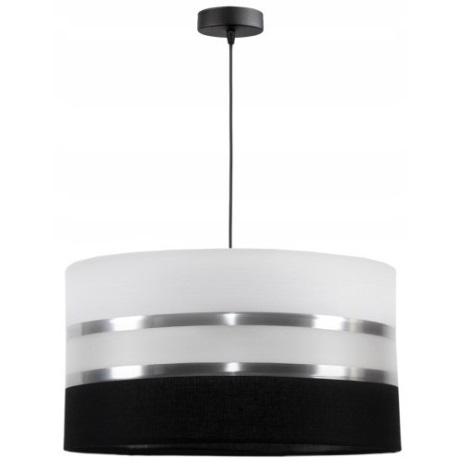 Lampadario a sospensione con filo CORAL 1xE27/60W/230V bianco e nero