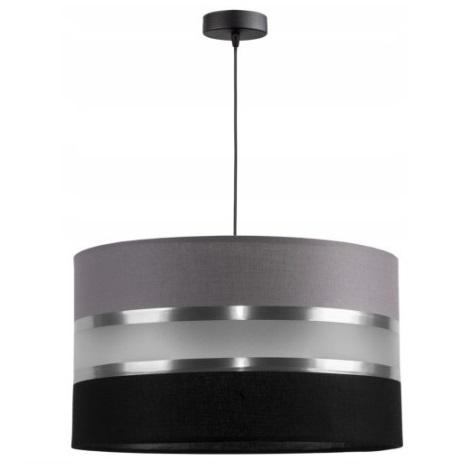 Lampadario a sospensione con filo CORAL 1xE27/60W/230V nero-grigio