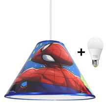 Lampadario LED a sospensione con filo MARVEL SPIDER-MAN 1xE27/15W/230V