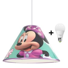 Lampadario LED a sospensione con filo MINNIE MOUSE 1xE27/15W/230V