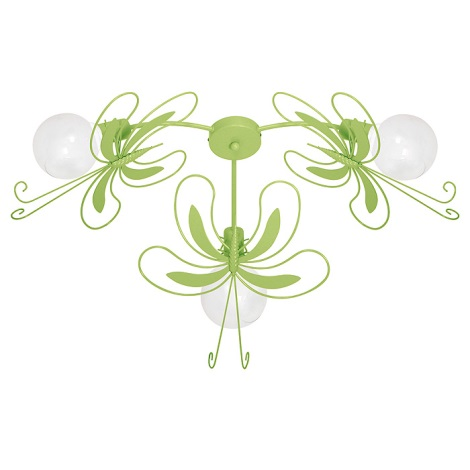 Verde Farfalla 60w 3xe27 Bambini Lampadario Per IgYfy76bvm