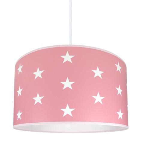 Lampadario per bambini STELLE rosa 1xE27/60W/230V