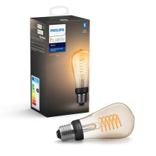 Lampadina LED dimmerabile Philips HUE WHITE FILAMENT ST64 E27/7W/230V