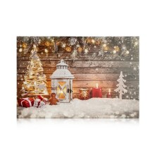 Markslöjd 704496 - Quadro decorativo a LED CANVAS 3xLED/0,18W/2xAA lanterna