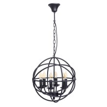 MW-LIGHT - Lampadario a sospensione con catena COUNTRY 6xE14/60W/230V