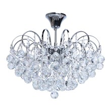 MW-LIGHT - Lampadario di cristallo a sospensione con supporto rigido CRYSTAL 6xE14/60W/230V