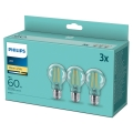 PACK 3x Lampadine LED VINTAGE Philips A60 E27/7W/230V 2,700K