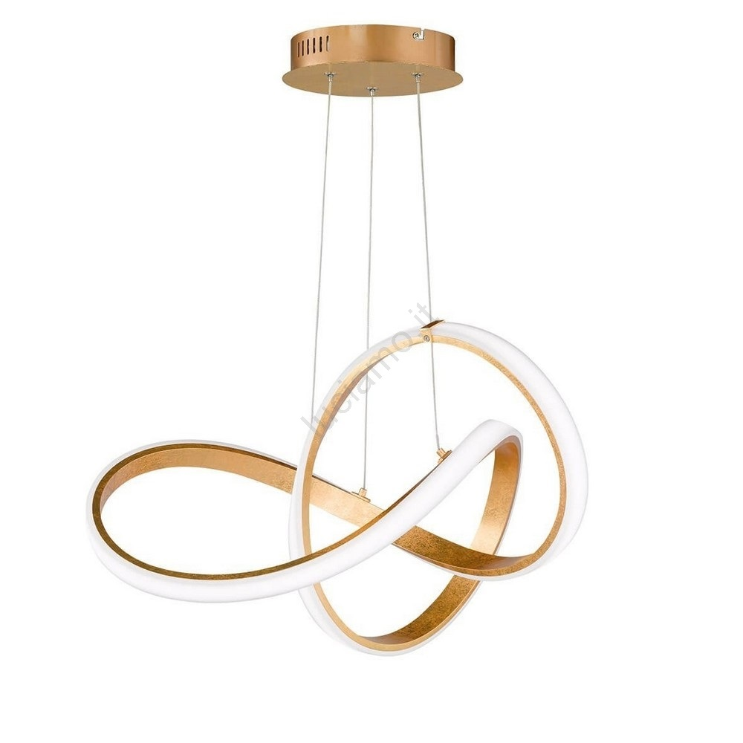 Lampadario Con Strisce Led paul neuhaus 8291-12 - lampadario a sospensione con filo led dimmerabile  melinda 1xled/30w/230v