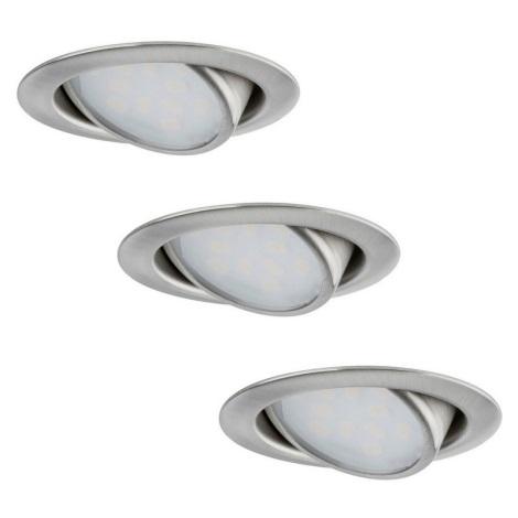 Lampade Ad Incasso A Led.Paulmann 92089 Set 3x Lampada Da Incasso Led 3xled 4 2w 230v