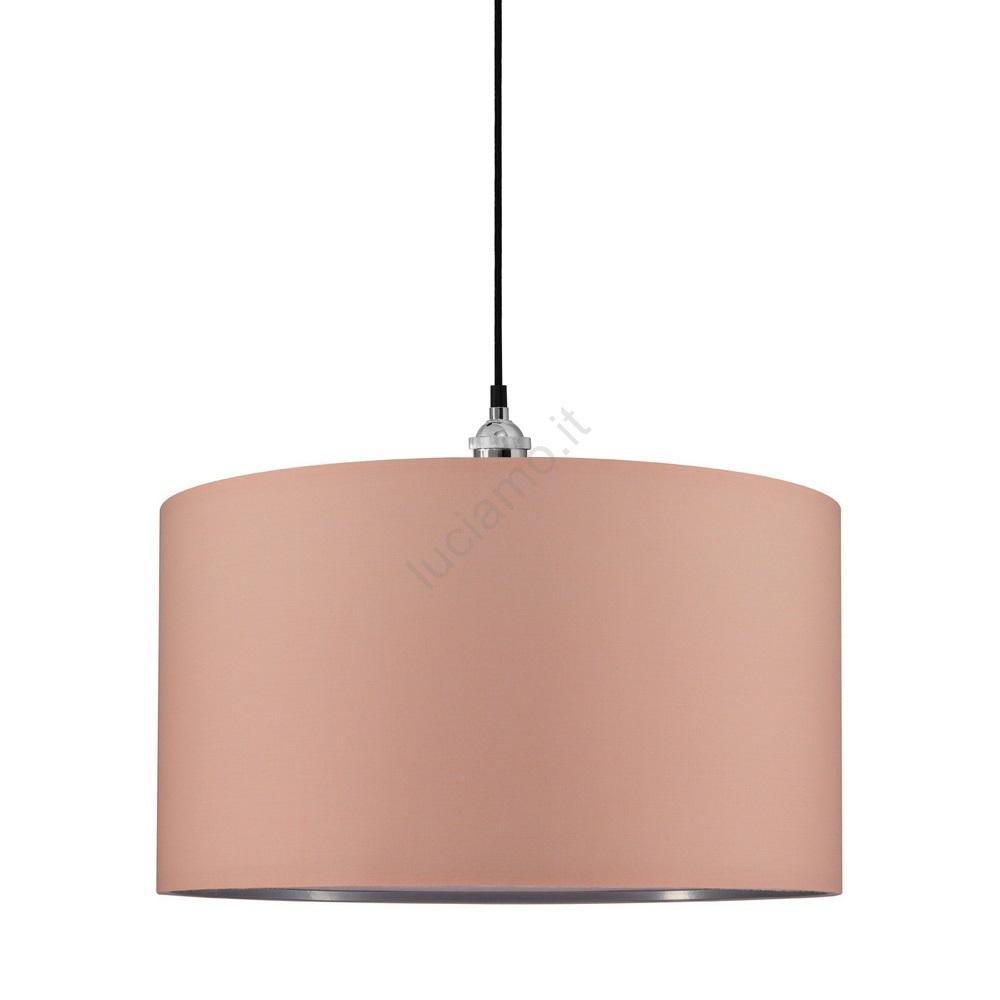 Creare Un Lampadario Di Stoffa paulmann 95367 - lampadario a sospensione con filo tessa 1xe27/20w/230v  albicocca