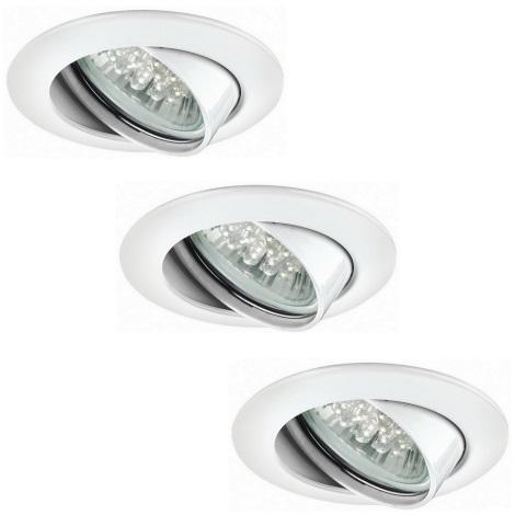 1w Da Premium Bagni 98762Set 230v Per Incasso Paulmann 3xgu10 Led Lampada H92WIED