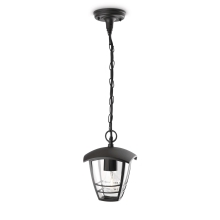 Philips 15386/30/16 - Lampadario a sospensione MYGARDEN CREEK 1xE27/60W/230V nero