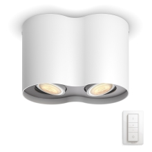 Philips 56332/31/P7 - Luce Spot a LED dimmerabile PILLAR HUE 2xGU10/5,5W/230V